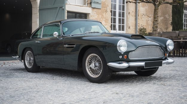 A photo of a black 1965 Aston Martin DB5 similar to one we have provided Classic Car Finance for in 2018.