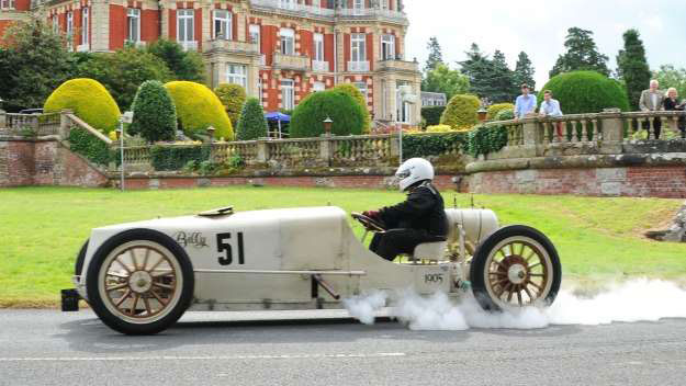 A Classic White Racecar at Chateau Impney 2015