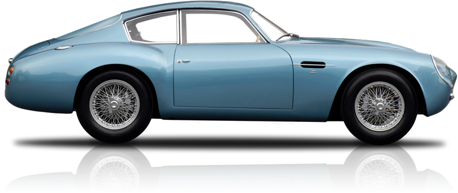 An Animation of a Blue Aston Martin DB4 to denote our Classic Car Finance Options.
