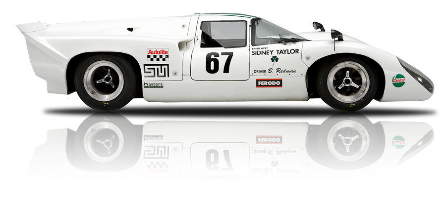 A animation of a white classic lotus race car dipicting our Racing Car Finance Options