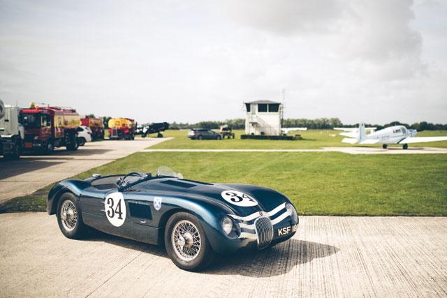 Classic Car on airfield