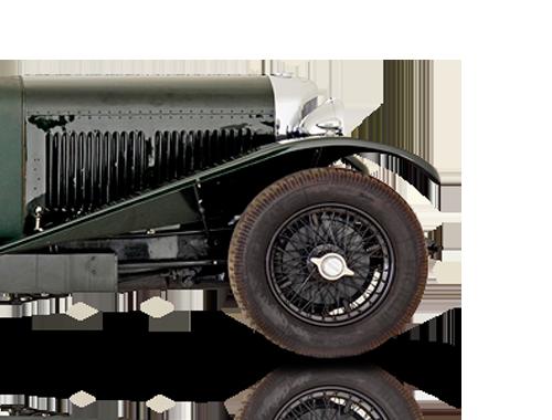 Half green Vintage Car Animation to denote our vintage car finance option