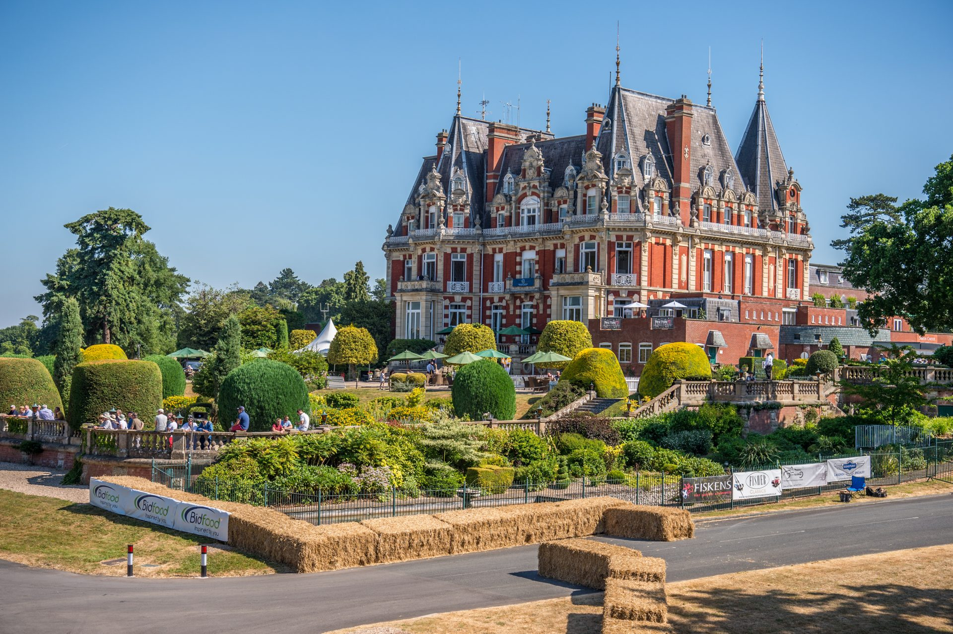 A picture of the house at Chateau Impney during the launch of Cambridge & Counties Banks Classic Car Finance Division