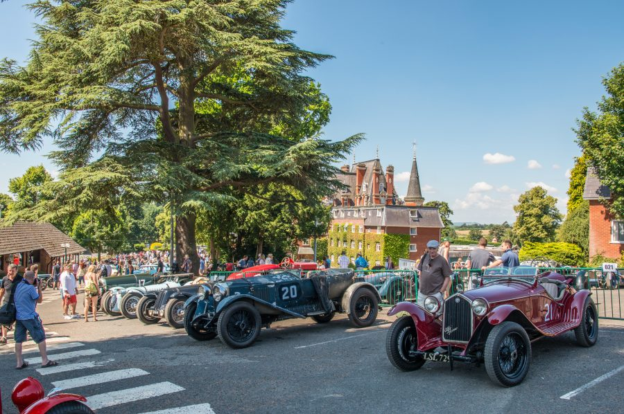 The Paddock at Chateau Impney during the launch of Cambridge & Counties Bank Classic Car Finance Division