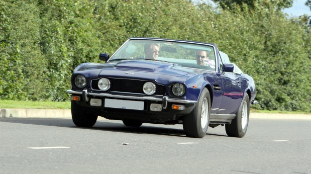 A photo of a rare Aston Martin V8 Vantage, similar to one we have provided finance for.
