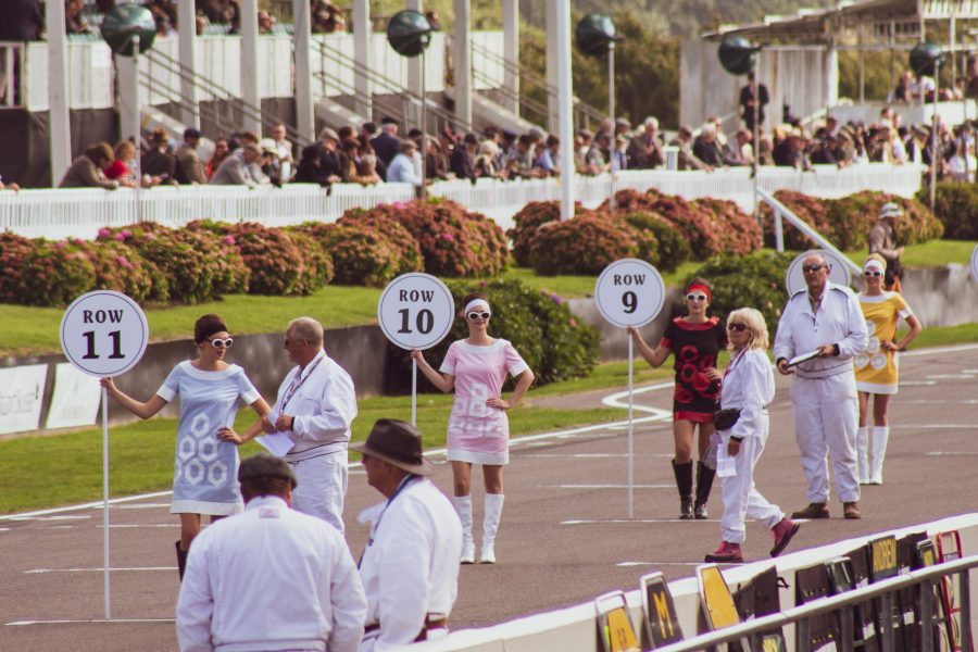 A photo of the Goodwood Revival Race Grid which we attended with our classic car finance team.