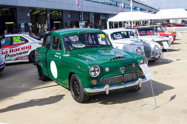 A photo of a classic Austin Westminster at the Silverstone Classic 2018 event that was attended by our classic car finance team.
