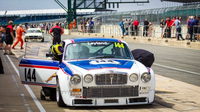 Classic Jaguar race car