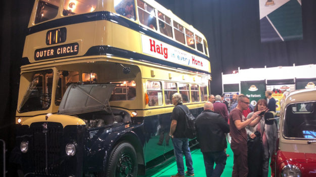 1960's bus at the Classic Car show 2018, the location for the launch of our classic car finance division and partnership with the FHBVC.