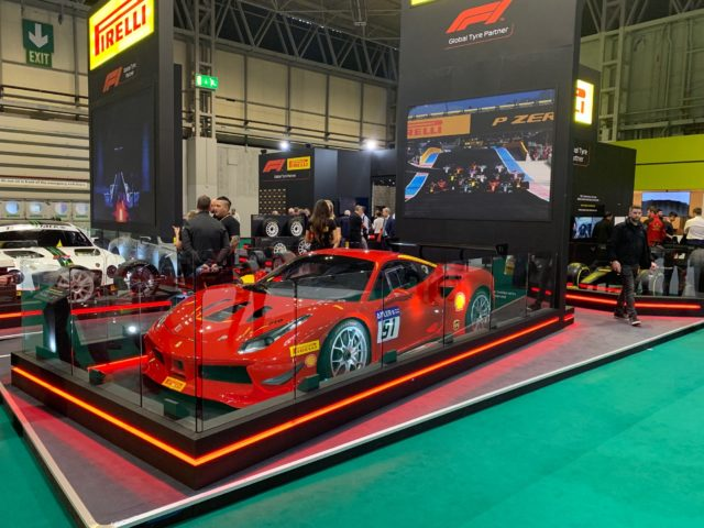 Ferrari Racecar at the Autoshow 2019