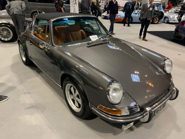 Grey Classic Porche 911 at the autoshow 2019