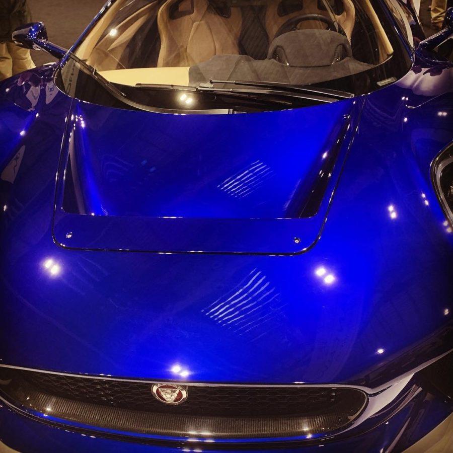Jag Blue Sports Car Front