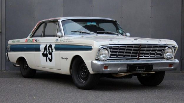 Case Study Picture White & Blue Ford Falcon Sprint: This is an example of a Ford Falcon Sprint that we provided Classic Car Finance For.