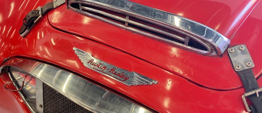 Austin Healey Car at Silverstone Classic Car Show 2019