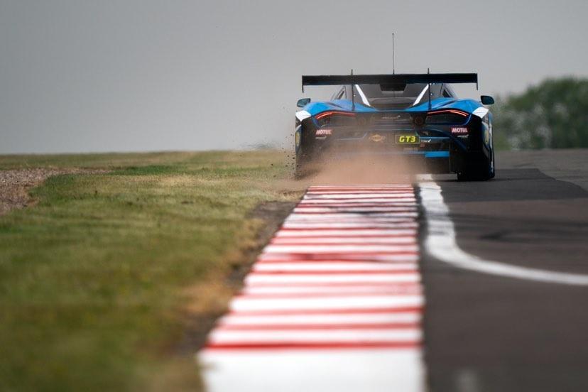 Angus Fender racing at British GT Championship